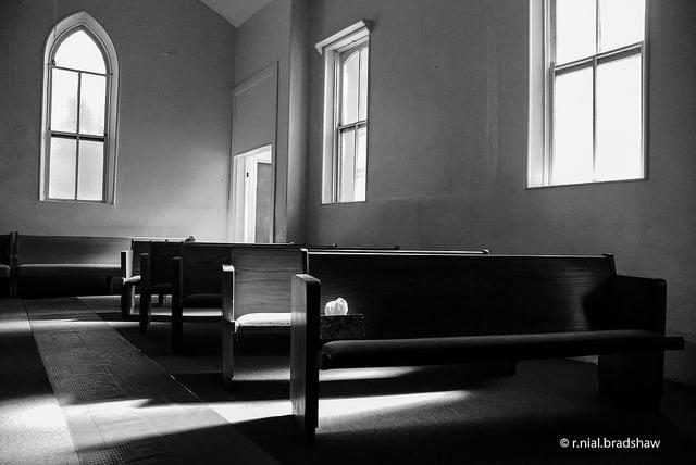 Church Pews - courtesy of r. nial bradshaw via Flickr