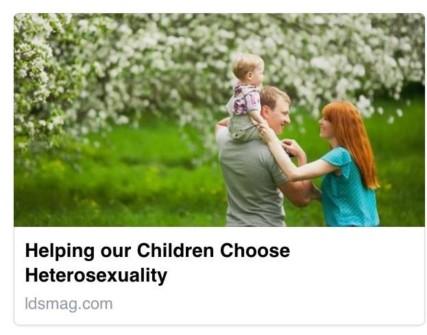Helping Our Children Choose Heterosexuality
