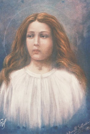 """Maria Goretti"" by Giuseppe Brovelli-Soffredini. Original source of this reproduction is unknown. Licensed under Public Domain via Commons."