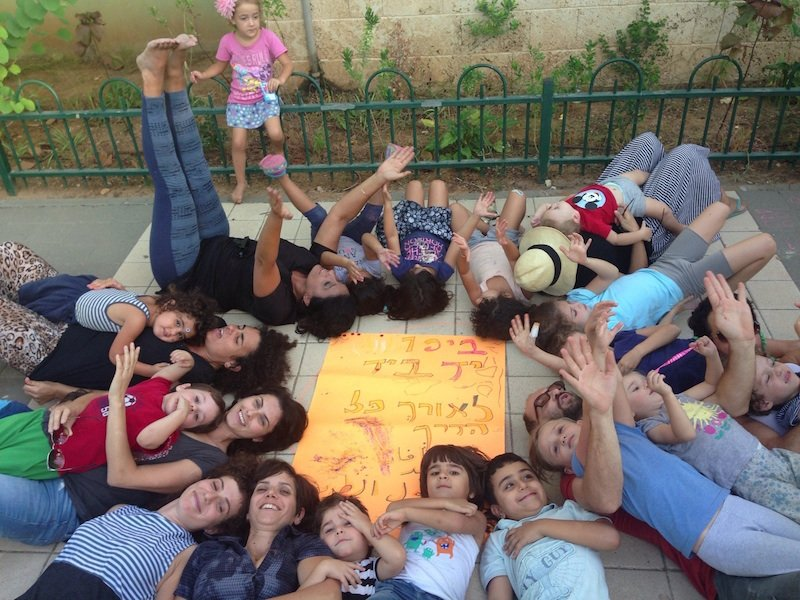 This is the Jaffa branch of Hand in Hand, in both Hebrew and Arabic, a school made up of four kindergarten and two first-grade classes that aims to respond to growing Jewish-Arab segregation and violence with mutual respect and open dialogue. Photo courtesy of Hand in Hand.