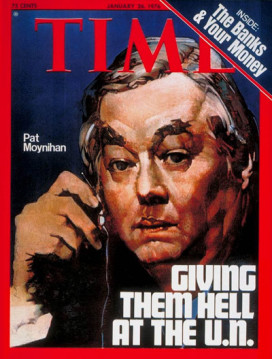 Time magazine cover piece on Moynihan.