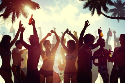 Beach party! Photo via Shutterstock