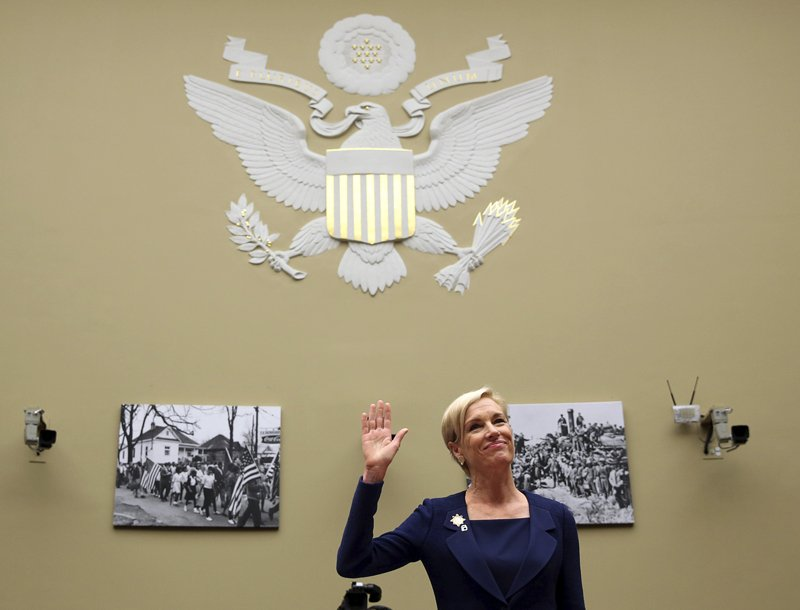 Planned Parenthood Federation president Cecile Richards is sworn in before she testifies before the House Committee on Oversight and Government Reform on Capitol Hill in Washington September 29, 2015. REUTERS/Gary Cameron - RTS29PD