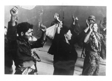 (RNS1-feb6) A group of Jews are taken prisoner during the Warsaw Ghetto uprising of April 1943. For use with RNS-GUNS-HOLOCAUST, transmitted on February 6, 2013, Religion News Service File Photo.