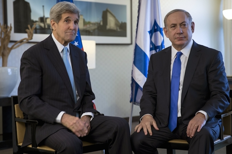 Israel's Prime Minister Benjamin Netanyahu (R) meets with United States Secretary of State John Kerry in Berlin, Germany October 22, 2015. Photo by Carlo Allegri courtesy of Reuters
