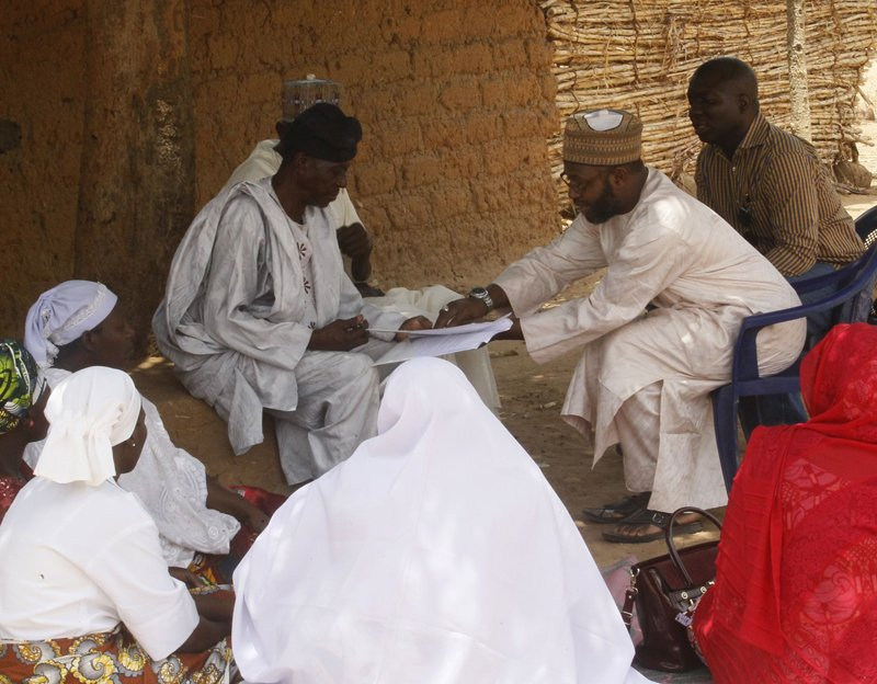 Dr. Farouk Mohammed Jega, center right, the Nigeria country director for Pathfinder International, interacts with Muslims clerics. Photo courtesy of Dr. Farouk M. Jega
