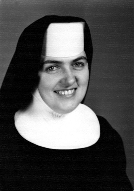 Joan (Sister Mary Peter) Chittister in habit. Photo courtesy of Benedictine Sisters of Erie, Pennsylvania