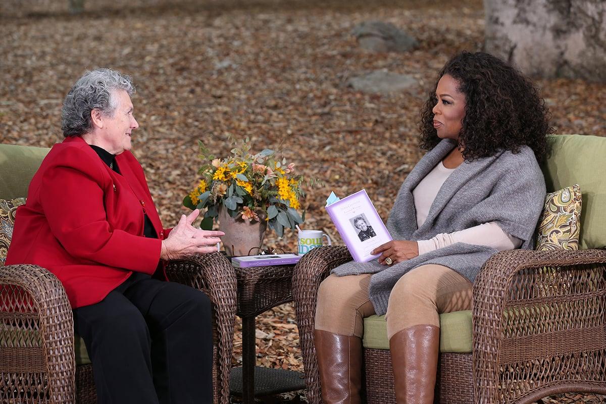 Sister Joan Chittister speaks with Oprah. Photo courtesy of Oprah Winfrey Network