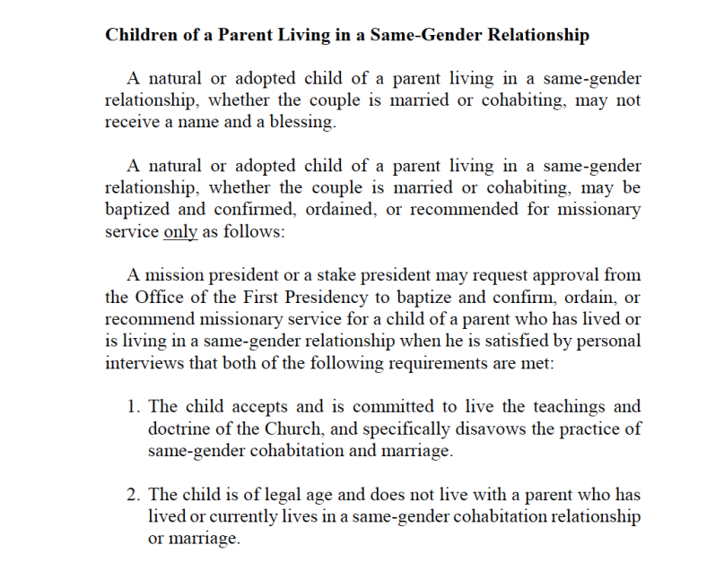 11.5.15 LDS policy same-sex