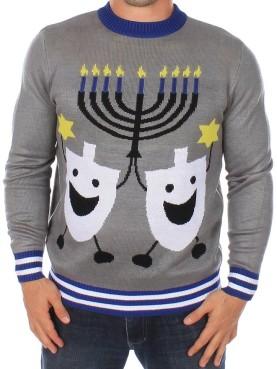 Ugly Hanukkah sweater.