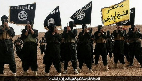 Fighters belonging to the Islamic State group in Anbar, Iraq. Source: Public domain image, via Wikipedia.