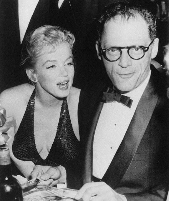 Marilyn Monroe and Arthur Miller at the April in Paris Ball held at New York's Waldorf-Astoria in 1957.