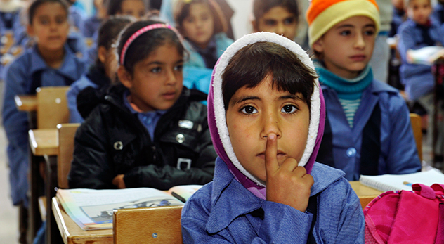 Of the Syrian refugees being referred by the U.N. for settlement, more than half are children under the age of 18. (Photo: Children inside a classroom at Za'atri refugee camp, host to tens of thousands of Syrians displaced by conflict. - Courtesy of United Nations Photo - http://bit.ly/1SAm79K)