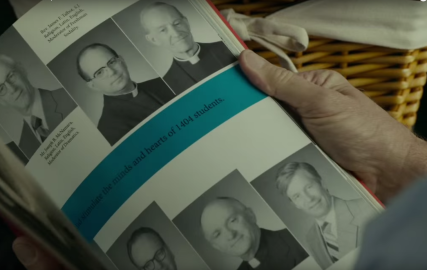 """Spotlight' shows reporters meticulously tracking down documentation of abuse by scores of priests. Image from Spotlight official trailer."
