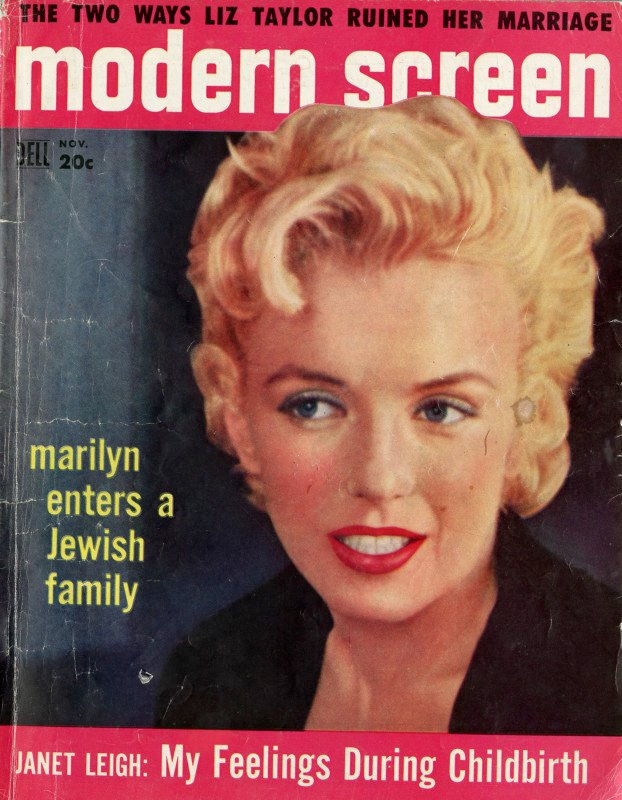 Marilyn Monroe on the cover of Modern Screen, November 1956. Courtesy of The Jewish Museum.