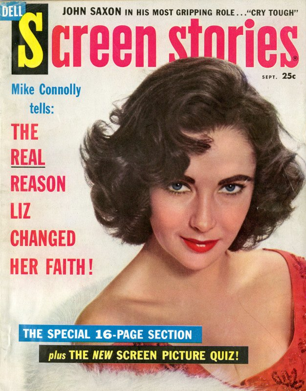 Elizabeth Taylor on the cover of Screen Stories, September 1959. Photo courtesy of The Jewish Museum.