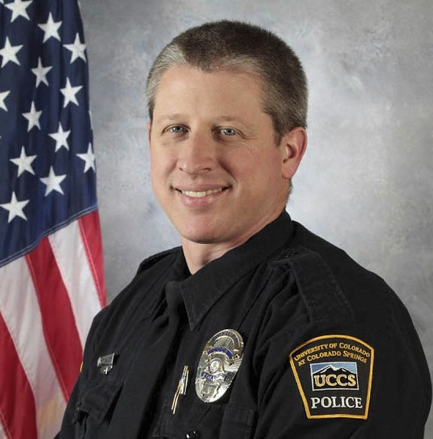 University of Colorado Colorado Springs (UCCS) police officer Garrett Swasey, who was killed when a gunman stormed a Planned Parenthood abortion clinic in Colorado Springs Handout photo courtesy of University of Colorado via Reuters