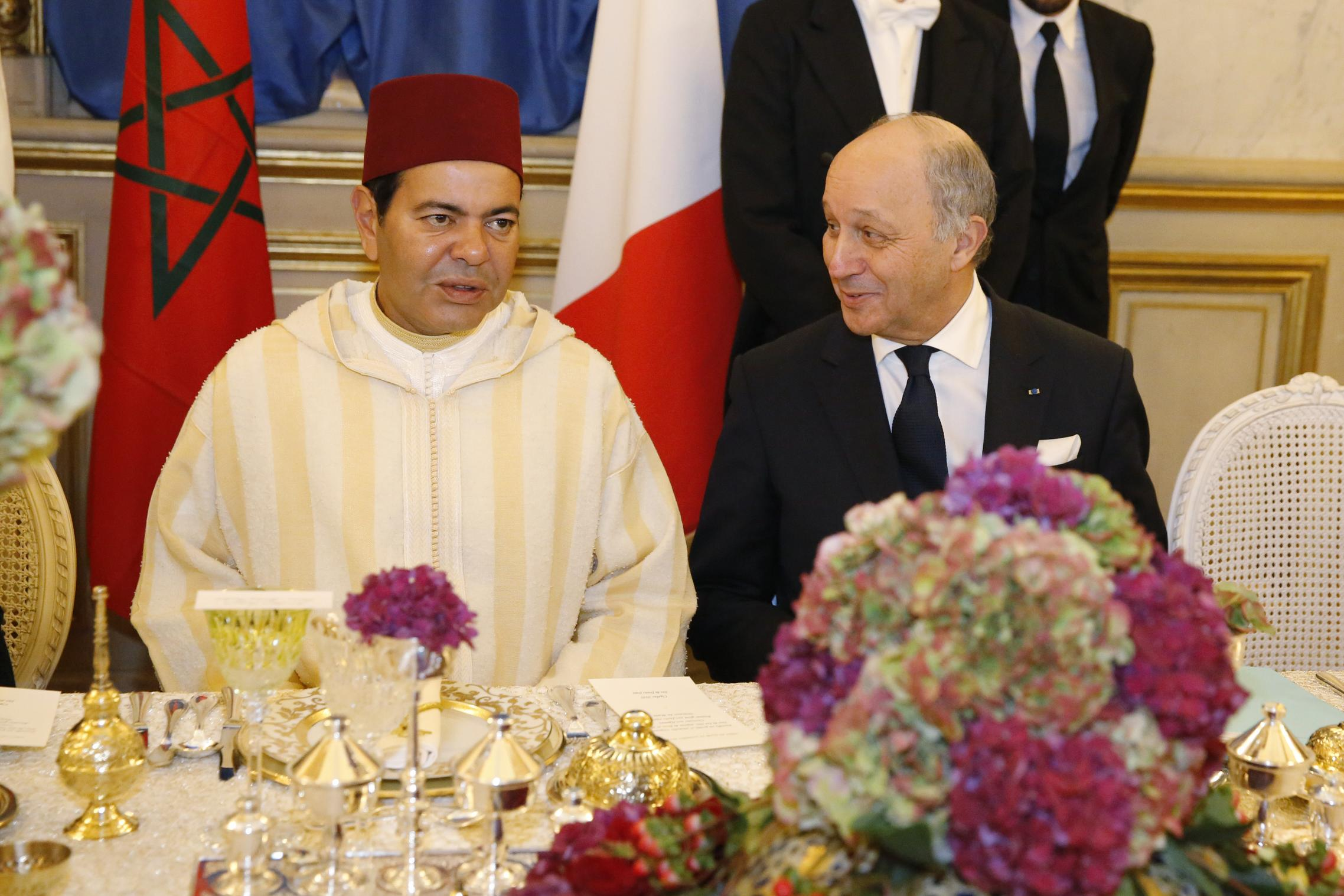 State dinner held in Paris on Nov. 10 by French Foreign Minister Laurent Fabius for visiting Moroccan Prince Moulay Rachid. PHOTO: Frédéric de La Mure, French Ministry of Foreign Affairs and International Development.