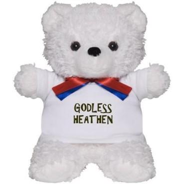 Godless Heathen teddy bear.