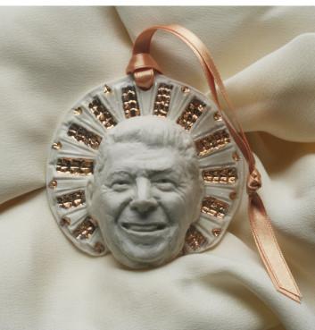 Ronald Reagan saint ornament.