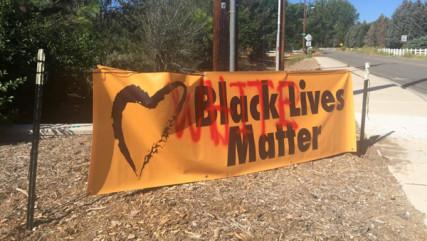 UU Fellowship of Northern Nevada of Reno, NV, had its Black Lives Matter banner vandalized.