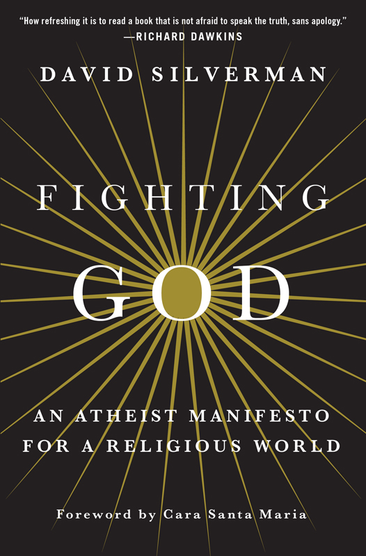 """Fighting God"" by David Silverman. Photo courtesy of St. Martin's Press"