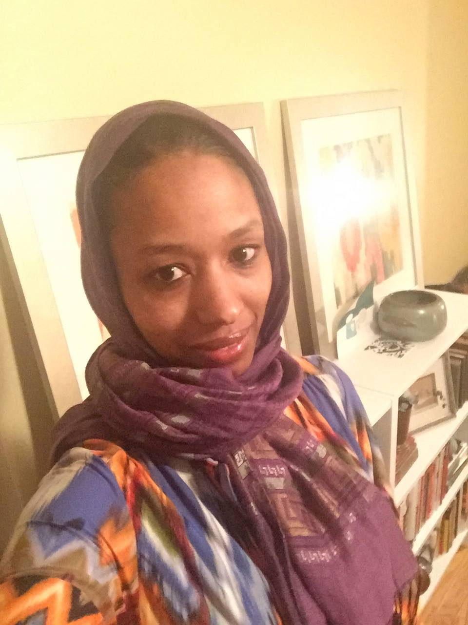 Dr. Larycia Hawkins in a hijab | From Hawkins's Facebook page (http://on.fb.me/1YkQR0n)
