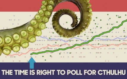 Cthulhu is a fictional. tentacled presidential candidate. Photo CthulhuforAmerica.com