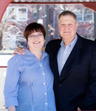 Charlene Storey and Mayor Carl Hokanson in 2014, photo from NJ.com