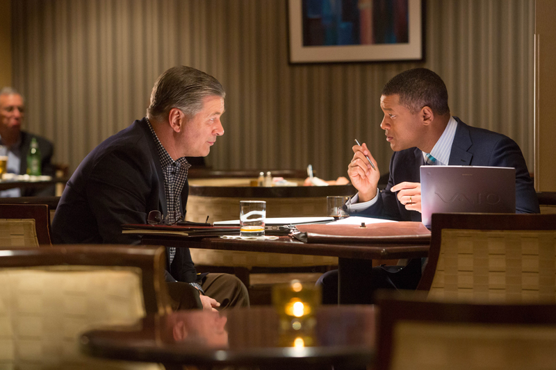 "Alec Baldwin, left, and Will Smith star in Columbia Pictures' ""Concussion."" Photo courtesy of Columbia Pictures Industries, Inc."