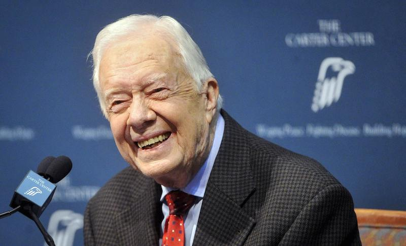 Former U.S. President Jimmy Carter, shown here in August 2015, told his Sunday School class Dec. 6 that his cancer had gone. Photo by John Amis courtesy of Reuters