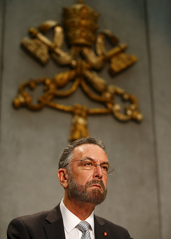 Rabbi David Rosen attends a news conference to present a major new document, that drew the Church further away from the strained relations of the past with Judaism, at the Vatican on December 10, 2015. Photo courtesy of REUTERS/Tony Gentile Editors: This photo may only be republished with RNS-POPE-JEWS, originally transmitted on Dec. 10, 2015.