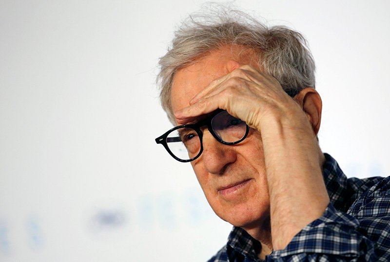"Director Woody Allen gestures as he attends a news conference for the film ""Irrational Man"" out of competition at the 68th Cannes Film Festival in Cannes, southern France, on May 15, 2015. Photo courtesy of REUTERS/Regis Duvignau"