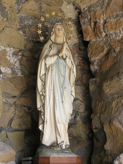 The Virgin Mary awaits pilgrims along the Appian Way in Rome. Religion News Service photo by Kimberly Winston