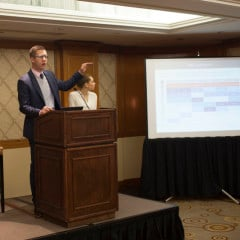 "Barna's David Kinnaman and Roxanne Stone present ""The Porn Phenomenon"" study results at the Omni Berkshire hotel in New York City. - Image courtesy of Barna Group"