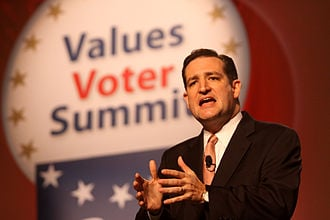 Ted Cruz speaking at the Value Voters Summit in 2011