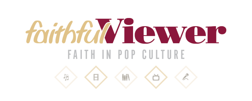 Faithful Viewer logo. Religion News Service graphic by T.J. Thomson