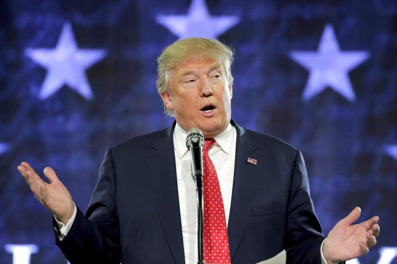 Republican presidential candidate Donald Trump speaks at Liberty University in Lynchburg, Va., on Jan. 18, 2016. Photo courtesy of REUTERS/Joshua Roberts