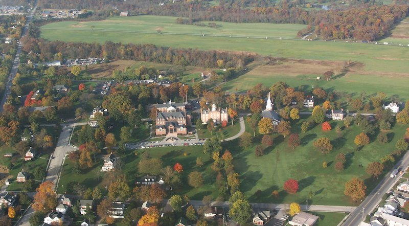 An aerial view of Lutheran Theological Seminary at Gettysburg, Pa. Photo courtesy Lutheran Theological Seminary