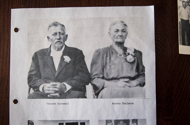 Anna Kurzweil's parents Vincent and Bertha appear in a family photograph. Religion News Service photo by Sally Morrow