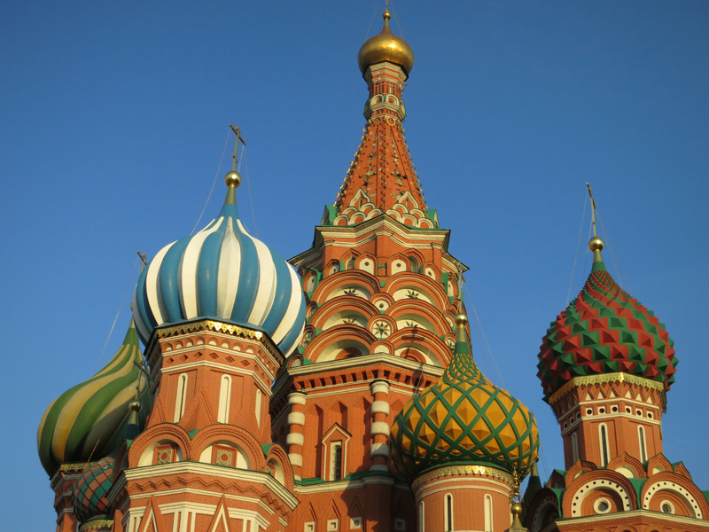 Saint Basil's Cathedral on Red Square in Moscow, which is now a museum. Photo taken on May 15, 2014. Religion News Service photo by Tom Heneghan