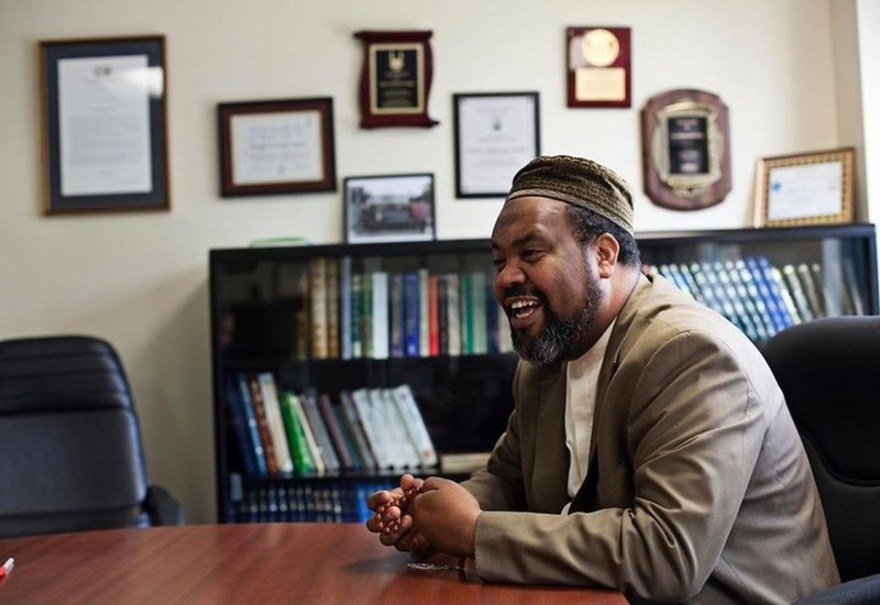 Imam Magid is the Executive Imam of America's second largest mosque and received a medal earlier this year from the King of Morocco for his role in restoring historic Jewish cemeteries in Morocco. Photo courtesy of All Dulles Area Muslim Society