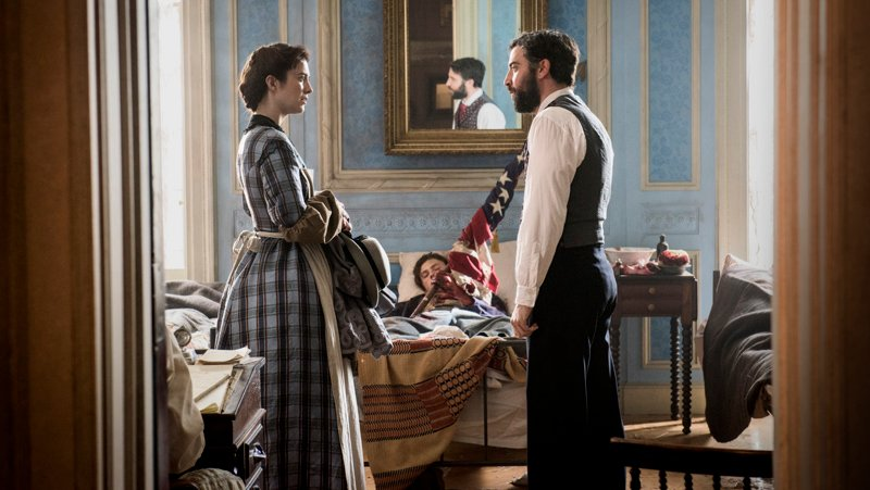 Mary Phinney and Jedediah Foster in 'Mercy Street' on PBS. Photo courtesy of PBS