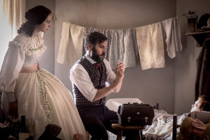 Emma Green and Jedediah Foster in a scene from 'Mercy Street' on PBS. Photo courtesy of PBS