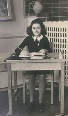 (RNS1-JUN9) Anne Frank, photographed at school before her family went into hiding from the Nazis in 1942. Photo courtesy of the Netherlands Institute for War Documentation.