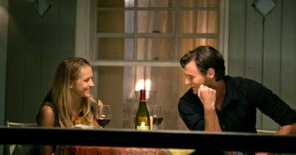 "Travis and Gabby talk on the porch in ""The Choice"" - Image courtesy of Lionsgate"