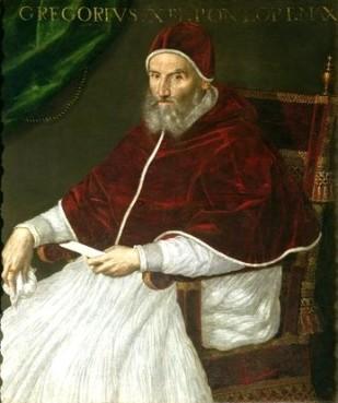 Pope Gregory XIII, portrait by Lavinia Fontana.