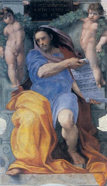The Prophet Isaiah, in fresco.