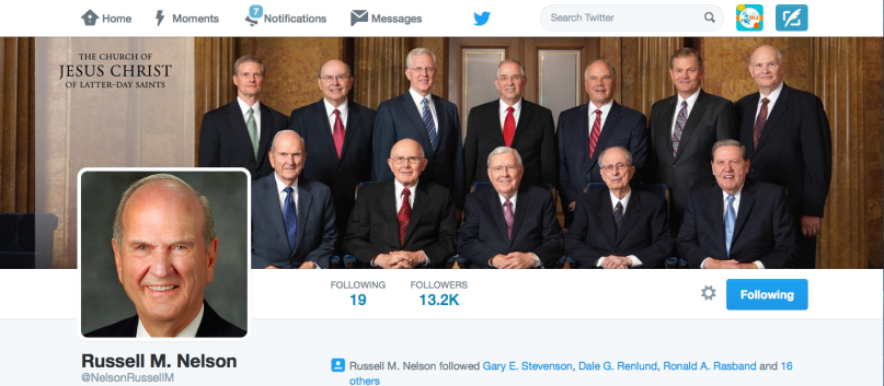 Elder Nelson has a Twitter account with over 13,000 followers, yet has never sent a tweet.