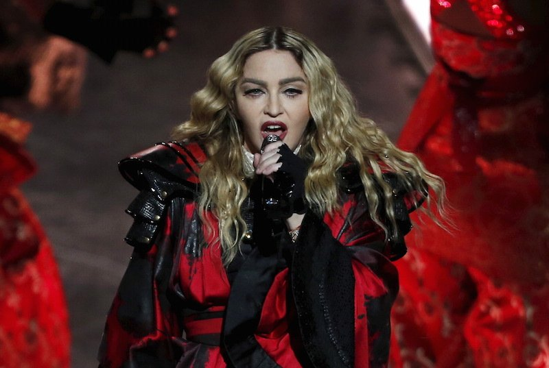 Madonna performs during her Rebel Heart Tour concert at Studio City in Macau, China February 20, 2016.   Photo courtesy REUTERS/Bobby Yip